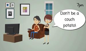Danh từ tiếng Anh chỉ người ngồi lỳ xem TV cả ngày