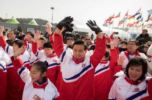 Vận động viên Triều Tiên dự Olympic tại Hàn Quốc. Ảnh: AFP.