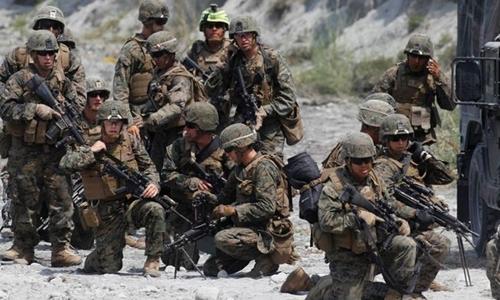 Lực lượng lính thủy đánh bộ Mỹ. Ảnh: Reuters.