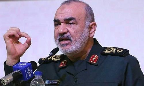 Phó tư lệnh lực lượng Vệ binh cách mạng Iran Hossein Salami. Ảnh: Tasnim News.