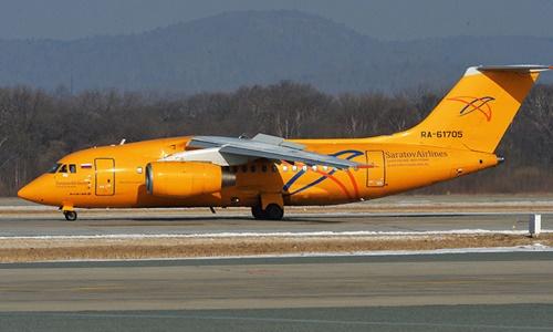 Một chiếc máy bay của hãng hàng không Saratov Airlines. Ảnh: Sputnik.