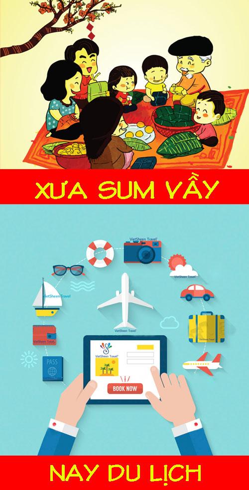 Nhiều người chọn cho mình cách đi du lịch thay vì ở nhà đón Tết.