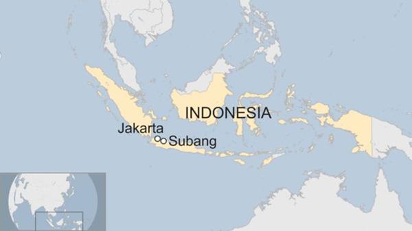 Vị trí vùng Subang, Indonesia. Đồ họa: BBC.