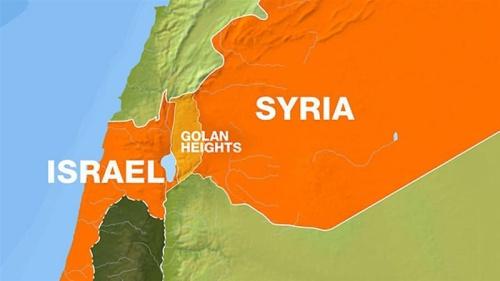 Vị trí Israel và Syria. Đồ hoạ: