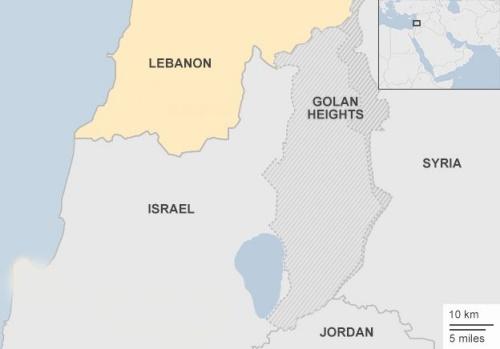 Vị trí Lebanon, Israel, Syria. Đồ hoạ: BBC.