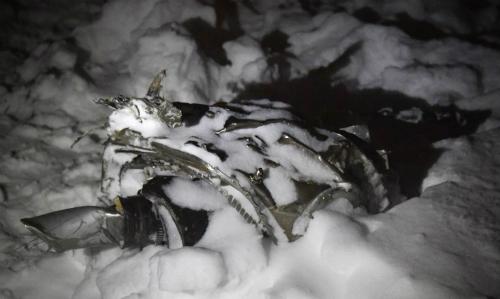 Mảnh vỡ máy bayAntonov An-148 tại ngoại ô Moscow ngày 11/2. Ảnh: AFP.