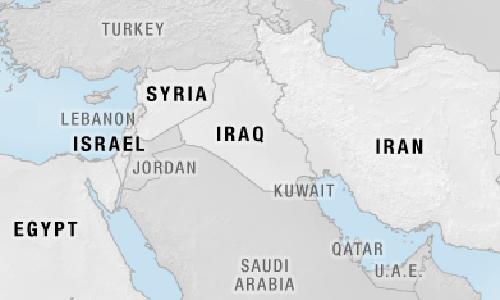 Tình hình Trung Đông có thể phức tạp hơn nếu Israel mở ra cuộc chiến mới với liên minh Syria - Iran - Lebanon. Đồ họa: Livemap.