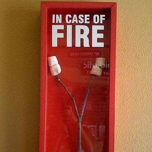 Lót dạ trong trường hợp có cháy.