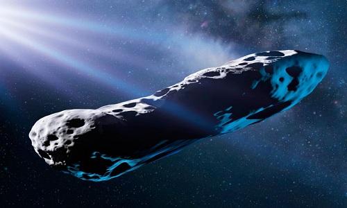 Tiểu hành tinh Oumuamua có thể đã trải qua va chạm mạnh với một giả hành tinh trong hệ của nó cách đây hàng tỷ năm. Ảnh: BBC.