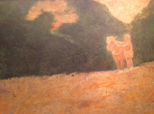 Bức sơn mài Bác Hồ ở chiến khu Việt Bắc của họa sỹ Dương Bích Liên.