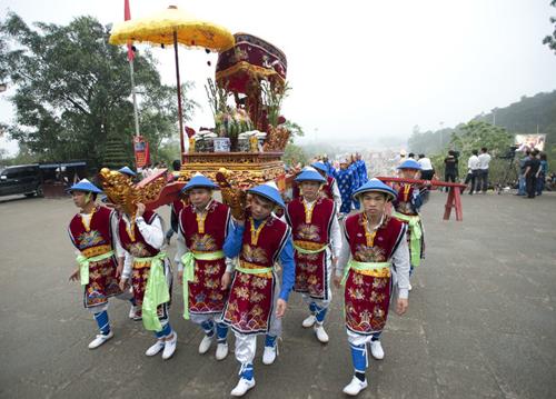 Lễ giổ tổ Hùng Vương năm 2018 diễn ra trong 5 ngày từ 6-10/3 âm lịch. Ảnh minh họa: Mai Uyên