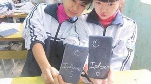 Điện thoại quả táo phiên bản học trò.