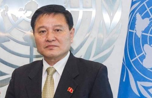 Đại sứ Triều Tiên tại Liên Hợp Quốc Ja Song-nam. Ảnh: Reuters.