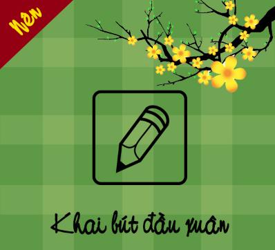 Khai bút đầu xuân là một trong những cách nhiều học sinh Việt thực hiện để lấy may mắn trong năm mới.
