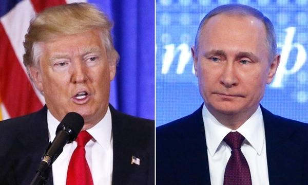 Tổng thống Mỹ Donald Trump (trái) và người đồng cấp Nga Vladimir Putin. Ảnh: Reuter.s