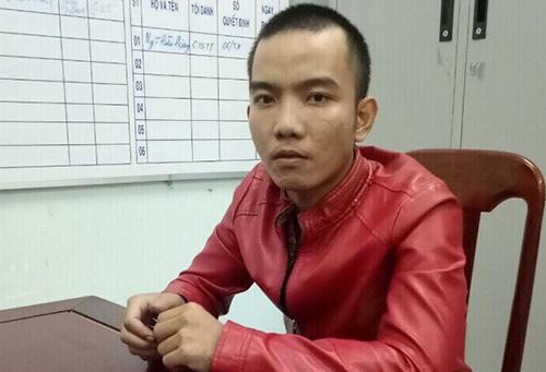 Cường bị bắt tại Phú Yên sau khi gây án. Ảnh: Công an,