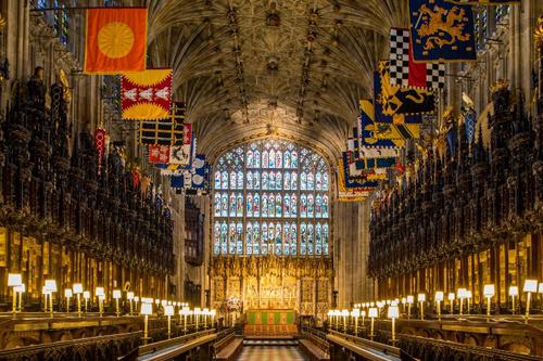 Một góc tại nhà thờ Thánh George ở lâu đài Windsor. Ảnh: AFP.