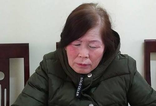 Phan Thị Bích Ngọc tại cơ quan điều tra.