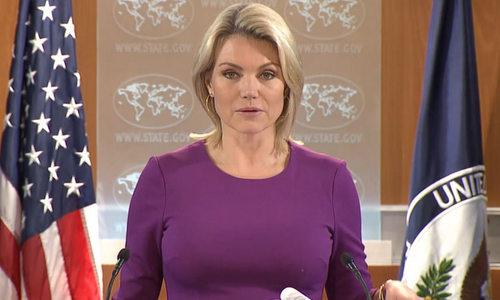 Người phát ngôn Bộ Ngoại giao Mỹ Heather Nauer. Ảnh: Bộ Ngoại giao Mỹ.
