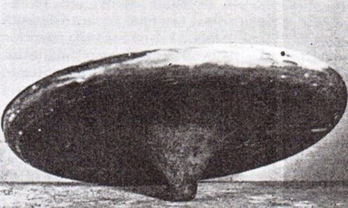 Vật thể được cho là UFO cỡ nhỏ ởSilpho Moor năm 1957. Ảnh: Fox News.