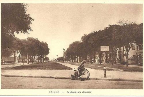 Đại lộ Lê Lợi thời thuộc Pháp. Ảnh tư liệu
