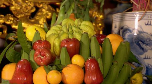 Phật thủ thường được trưng trên mâm ngũ quả thay cho trái bưởi ngày Tết.Tên gọi này xuất phát từ hình dáng quả giống như những ngón tay Phật mở, duỗi, xòe, khép hay nắm...
