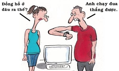 Vợ buồn lòng vì chồng vô địch chạy đua