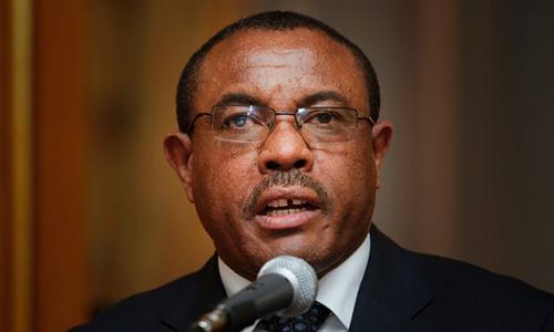 Thủ tướng Ethiopia bất ngờ thông báo từ chức trên truyền hình hôm qua. Ảnh: Guardian.