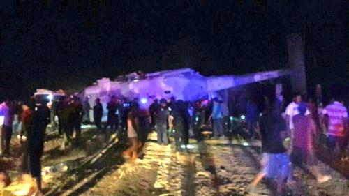 Hiện trường tai nạn trực thăng ở Mexico. Ảnh: AFP.