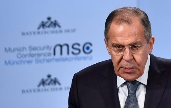Ngoại trưởng Nga Sergei Lavrov tại Diễn đàn An ninh Munich, Đức, ngày 17/2. Ảnh: AFP.