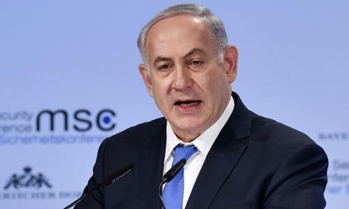 Thủ tướng Israel Benjamin Netanyahu phát biểu tại Diễn đàn An ninh Munich, Munich, Đức, ngày 18/2. Ảnh: AFP.