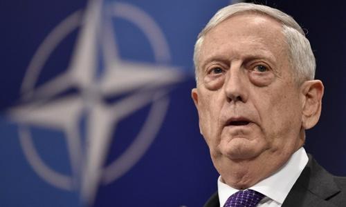 Bộ trưởng Quốc phòng Mỹ James Mattis. Ảnh: AFP.