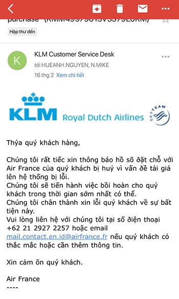 Hành khách Việt tố cáo hãng hàng không Pháp hủy hàng loạt vé giá rẻ