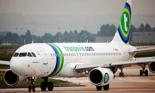 Máy bay của hãng hàng không Transavia. Ảnh: Reuters.