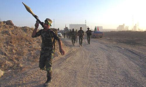 Dân quân Iraq trong một chiến dịch tấn công IS. Ảnh: IraqiNews.
