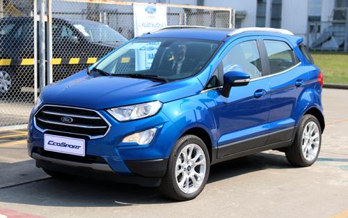 EcoSport mới giới thiệu tại nhà máy Ford ở Hài Dương. Ảnh: Đức Huy.
