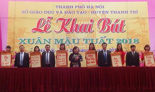 Ngành giáo dục Hà Nội khai bút đầu xuân với sáu thông điệp