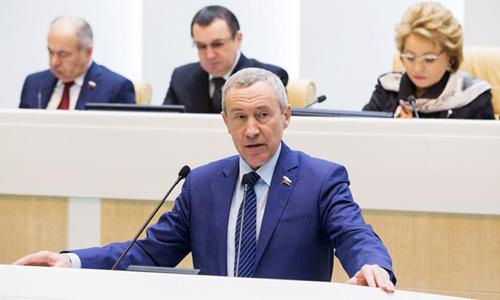 Thượng nghị sĩ Nga Andrey Klimov. Ảnh: Văn phòng Báo chí Hội đồng Liên bang Nga.