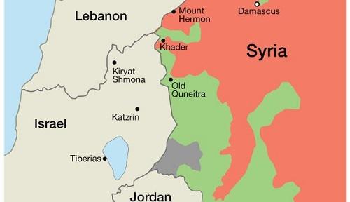 Vị trí dãy núi Hermon (Mount Hermon) tại kbu vực biên giới Syria-Lebanon. Đồ họa: Haaretz.