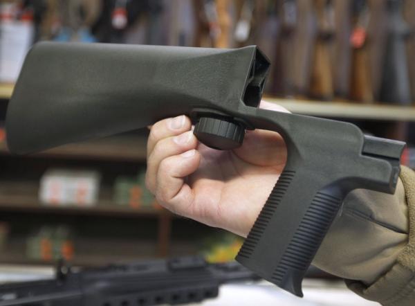 Báng súng biến súng bán tự động thành tự động. Ảnh: SkyNews.