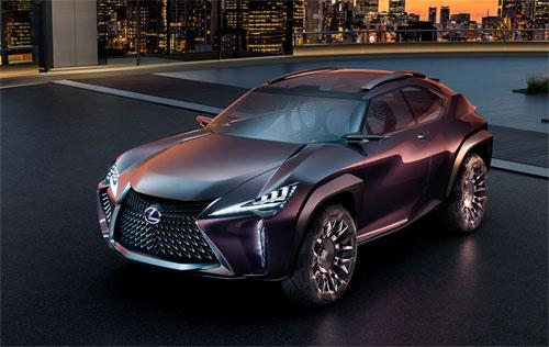 Lexus UX concept với thiết kế góc cạnh.