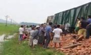 Ôtô tải vượt đường ray bị tàu hỏa tông, một người chết