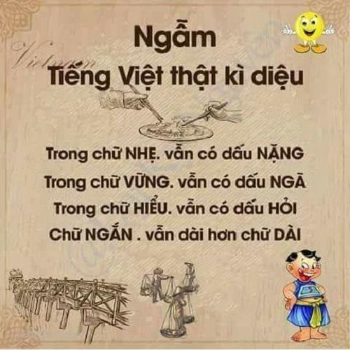 Tiếng Việt thật diệu kỳ!
