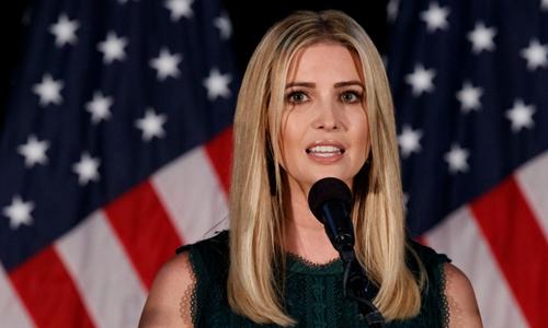 Ivanka, con gái của Tổng thống Mỹ Trump. Ảnh: AP.