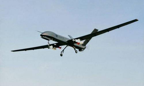 Mẫu CH-4 mang vũ khí trong một chuyến bay thử nghiệm. Ảnh: Sina.