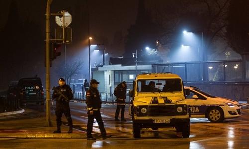 Cảnh sát Montenegro phong tỏa tuyến đường có đại sứ quán Mỹ ở thủ đô