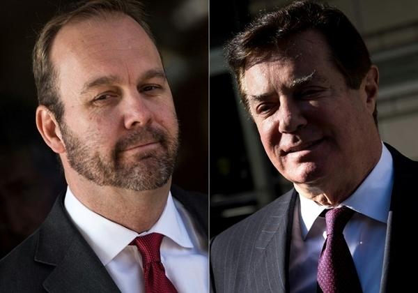 Richard Gates (trái) và Paul Manafort. Ảnh: AFP.