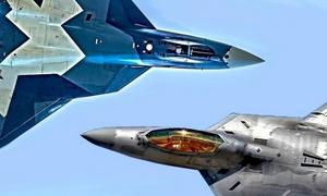 Kịch bản so tài giữa Su-57 Nga và F-22 Mỹ trên bầu trời Syria