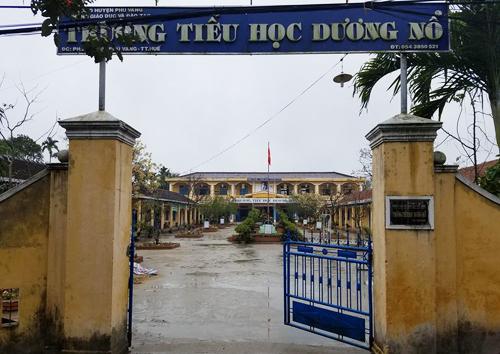 Trường Tiểu học Dương Nổ. Ảnh: Võ Thạnh