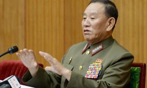 TướngKim Yong-chol, người dự kiến dẫn đầu phái đoàn Triều Tiên dự bế mạc Olympic tại Hàn Quốc, trong bức ảnh chụp năm 2015. Ảnh: Reuters.
